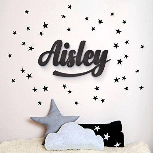 Wooden Hanging Wall Letters - White Decorative Wall Letter for Children's Nursery Baby's Room - BOSTON CREATIVE COMPANY