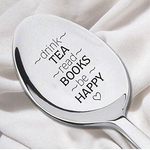 Drink Tea Read Book Spoon-Tea Lover Spoon - Book Lover Gift - BOSTON CREATIVE COMPANY
