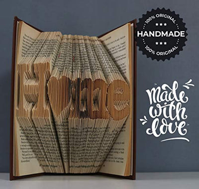 Home Folded Book Art -Gift for House Warming-Unique Present for New Home-Christmas Idea -Gift for Them-Beautiful Decoration for Home-Handmade Crafts.