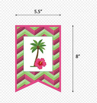 Ideas from Boston- Hawaiian Tropical Themed Party Supplies, Happy Birthday Banner Hawaii Summer Beach Garland Party Supplies, Hawaiian Happy Birthday banner Party Decor