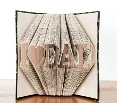 Fathers day gifts - Folded book art - Dad gifts - Grandpa gifts - Paper anniversary gifts - 50th anniversary gifts
