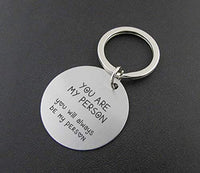 Youre My Person Keychain Gifts- Fansing Jewelry Birthday Gifts for Men Boyfriend Valentine Couple You're My Person, Couple Goals Stainless Steel Key Ring