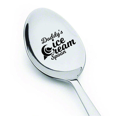 Dad gifts - Fathers Day Gifts - Gifts for men - Daddys Ice Cream Spoon - Best Selling item - Funny gifts - Birthday Gifts - Unique Gifts - Gifts for Dad - Gifts for Grandpa - Engraved Spoon - 7 Inches - BOSTON CREATIVE COMPANY