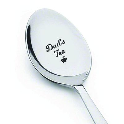 Fathers day gifts - Dads tea spoon - Daddy gifts - Grandpa gifts - Engraved spoon - Gifts for men - Dads birthday - Anniversary gifts - Daddy gifts from daughter - 7 Inches - BOSTON CREATIVE COMPANY