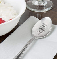 Drink Tea Read Book Spoon-Tea Lover Spoon - Book Lover Gift