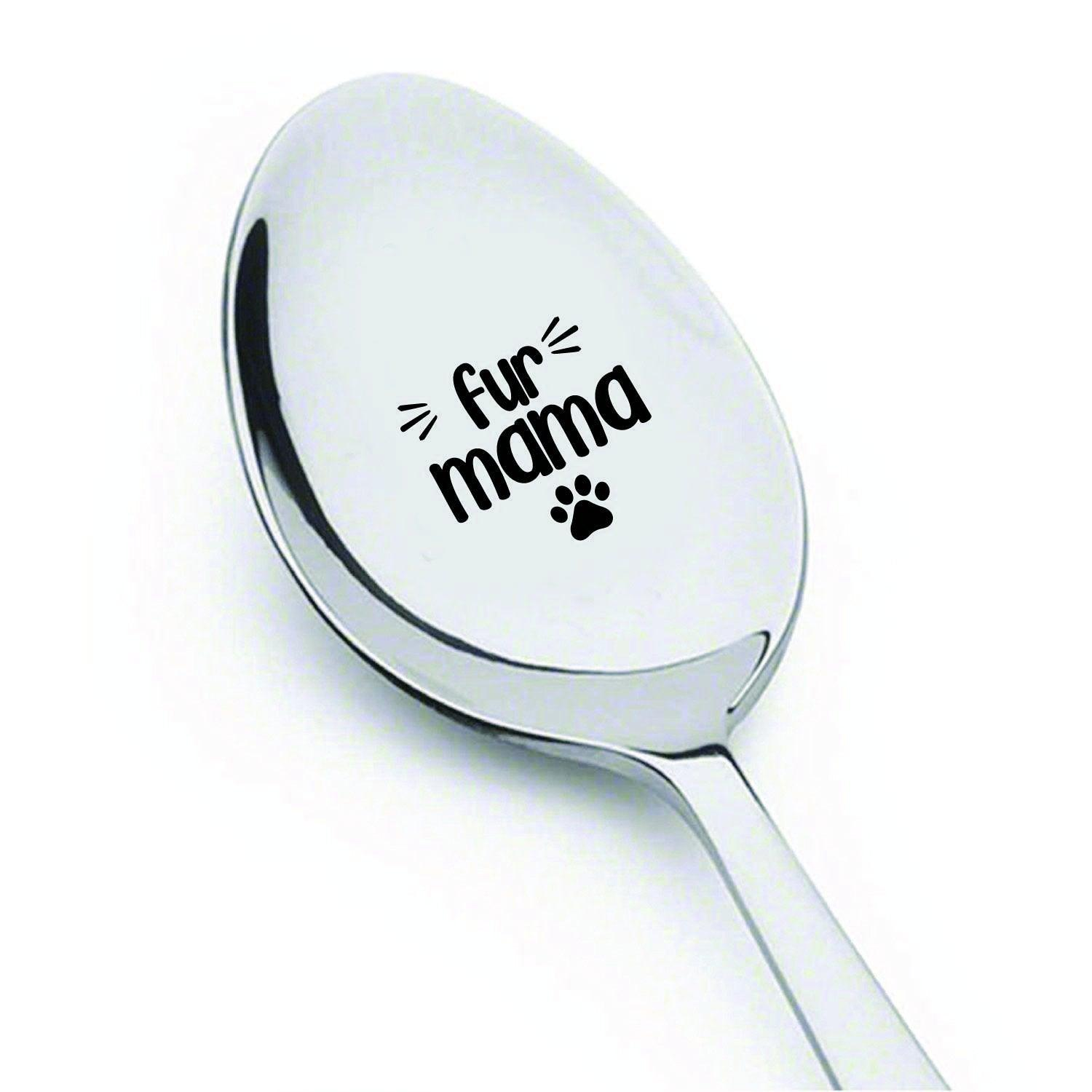 Pet Lover Gifts - Cat Spoon - Funny Pet Gifts - Fur mama - Mother's Day Gifts - Dog Mum Gifts - Dog Lover Gifts - Cat Lover Gifts - New Gifts Fur Mom - BOSTON CREATIVE COMPANY