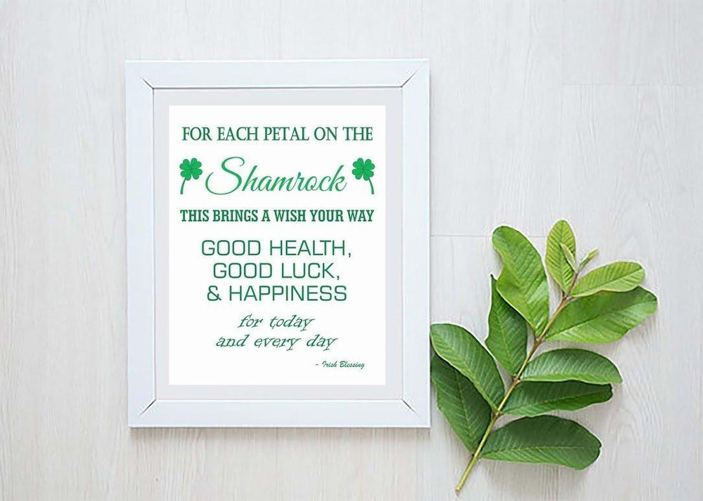 Irish Blessing - Irish Blessing Sign - Irish Gifts - Irish Quote - St Patricks Day - St Patricks Day Decorations - St Patricks Day Décor - March 17 Quote - Wall décor - Home decor - BOSTON CREATIVE COMPANY