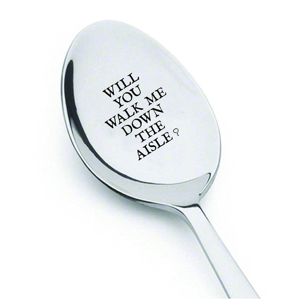 Will You Walk Me Down the Aisle? - Engraved Unique Gift - Maid Of Honor Gift - Christmas Gifts For Him - BOSTON CREATIVE COMPANY