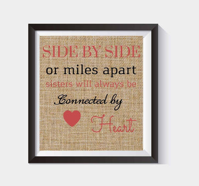 Vertical Design Burlap Print - Gift for House Warming  - Makes a Unique New Home Gift #B_Print_01
