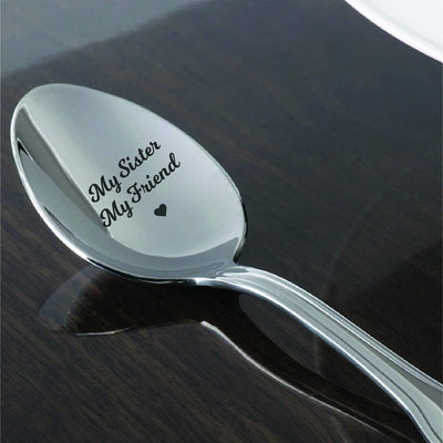 Demitasse Espresso Spoon - Always My Sister Is My Best Friend - Gift for Sister Engraved Spoon
