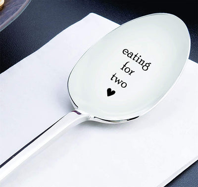 Eating For Two Spoon   Pregnancy Gift New Arrival Gift