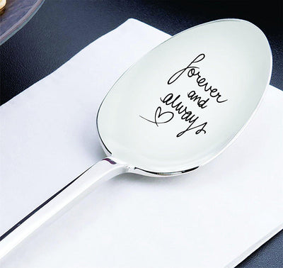 Best friend gifts - Anniversary gifts - Wedding gifts - Gift for mom - Forever and always spoon - Long distance relationship gifts - Moving away gifts - Mothers day gifts - Engraved spoon – 7 inches - BOSTON CREATIVE COMPANY