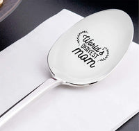 Mothers day gifts - Gag gifts - Engraved spoon - Funny gifts for mom - World's okayest mom -7 inches