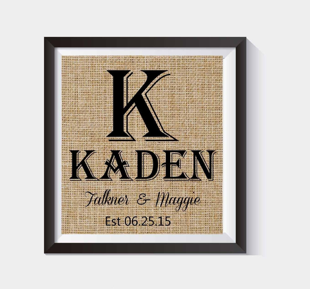 Gorgeous Monogram Gift |Monogram Wedding & Anniversary Gift / Monogrammed Gifts | Personalized Wedding Gift for Couple | Personalized Engagement Gift / Gift for Bride | - BOSTON CREATIVE COMPANY