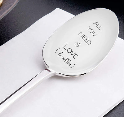All you need is Love and Coffee Spoon Best friends gifts Coffee Lovers Gift