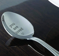 You Are Loved Tea Coffee Spoon | Engraved Valentines Day Gifts | Table Dessert Spoons | Stainless Steel Spoons