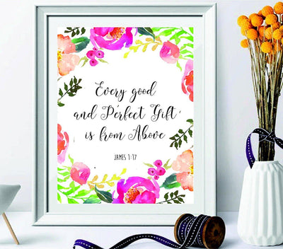 """Every Good And Perfect Gift Is From Above"" - Wall decors - Wall art - BOSTON CREATIVE COMPANY"