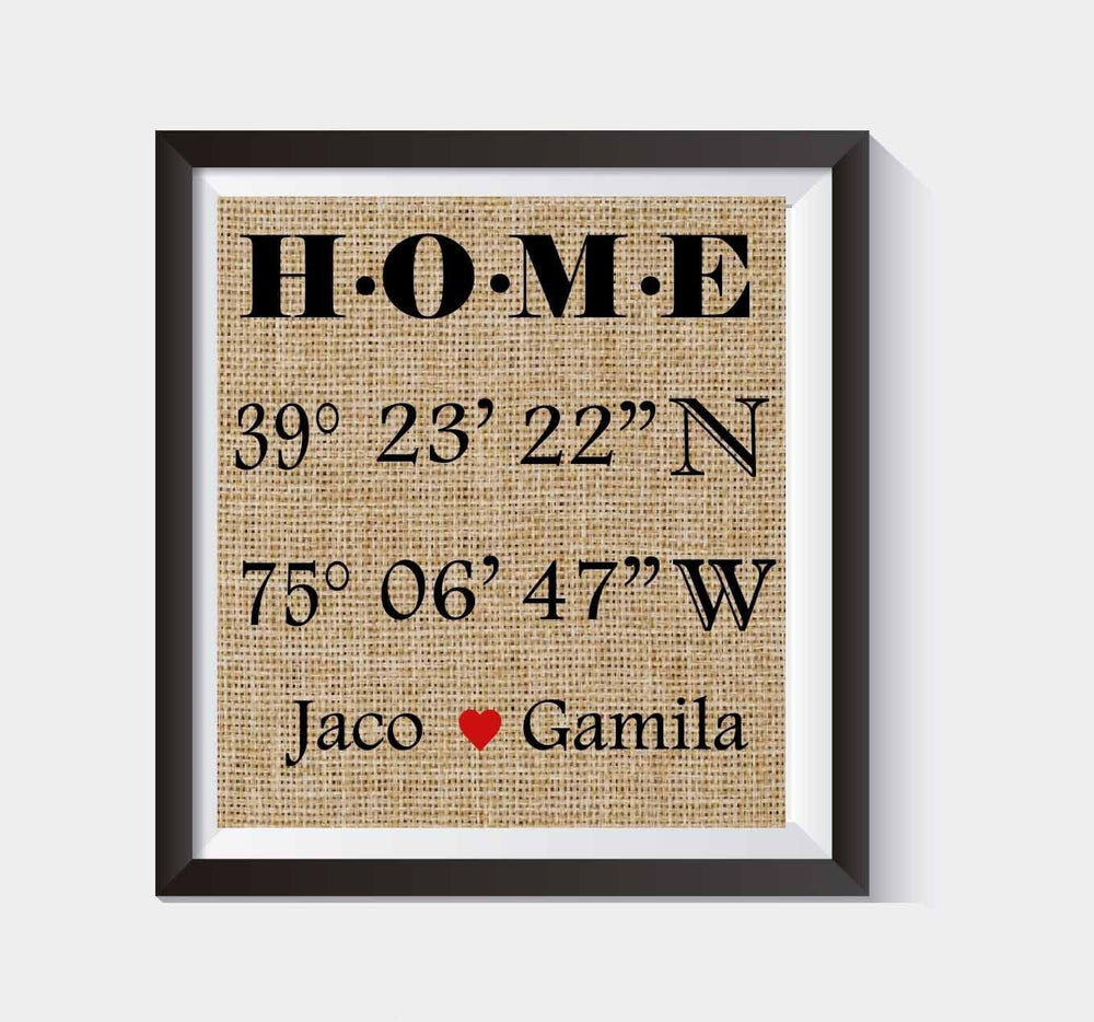 Latitude Longitude Sign | House Warming Gift | Bridal Shower Gift | Wedding Gift | Home Decor Sign | New Home Housewarming | GPS Coordinates #038 - BOSTON CREATIVE COMPANY