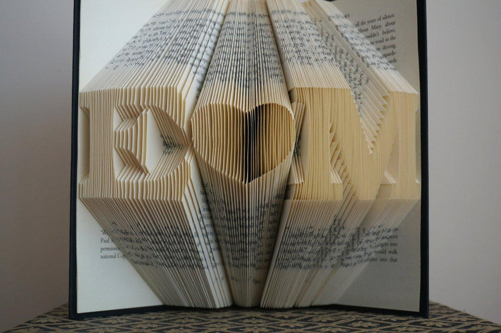 Folded Book Art - Best Selling Gifts - Wedding Day Gifts  - Unique Gifts - 8 Character - BOSTON CREATIVE COMPANY