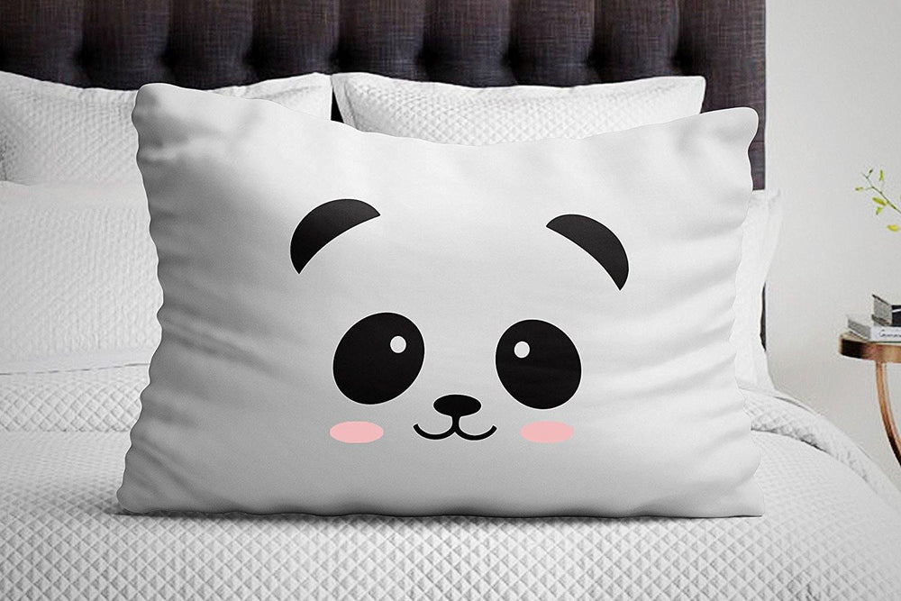 Signatives Baby shower gifts - Kid pillowcase - Panda pillowcase - Bedroom decor - Baby pillow cover - BOSTON CREATIVE COMPANY