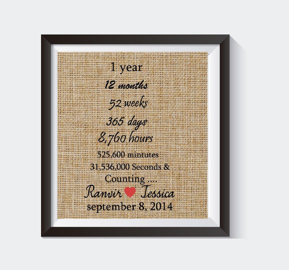 Best Selling Product - First Wedding Anniversary /1st Anniversary Gift / Customized Gift /Unique & Customized unique anniversary gift u2013 BOSTON CREATIVE COMPANY