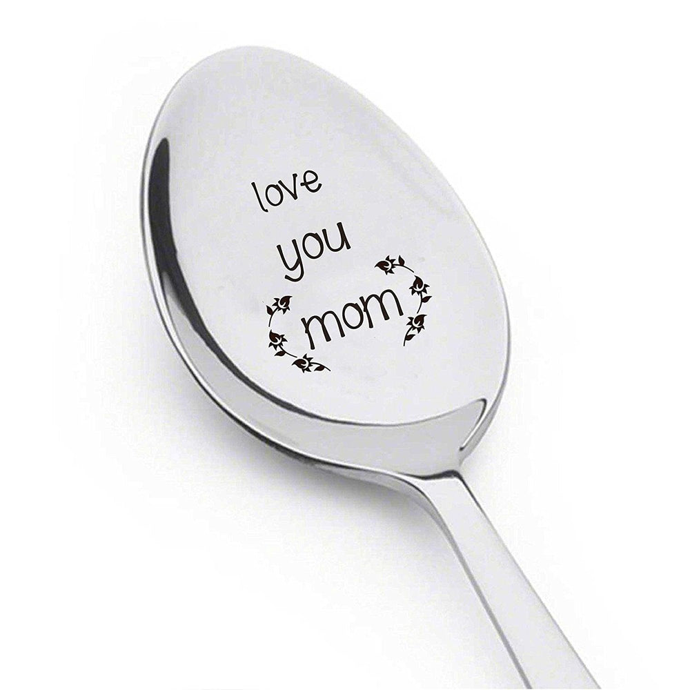 Love You Mom Engraved stainless steel spoon - BOSTON CREATIVE COMPANY