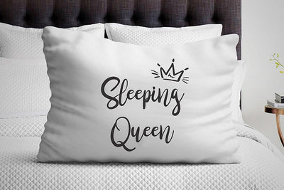 Girlfriend gifts - Sleeping queen pillowcase - Unique gifts - Funny gifts - Bedroom decor - Bedding pillow - Gift for him - Long distance relationship gifts - BOSTON CREATIVE COMPANY