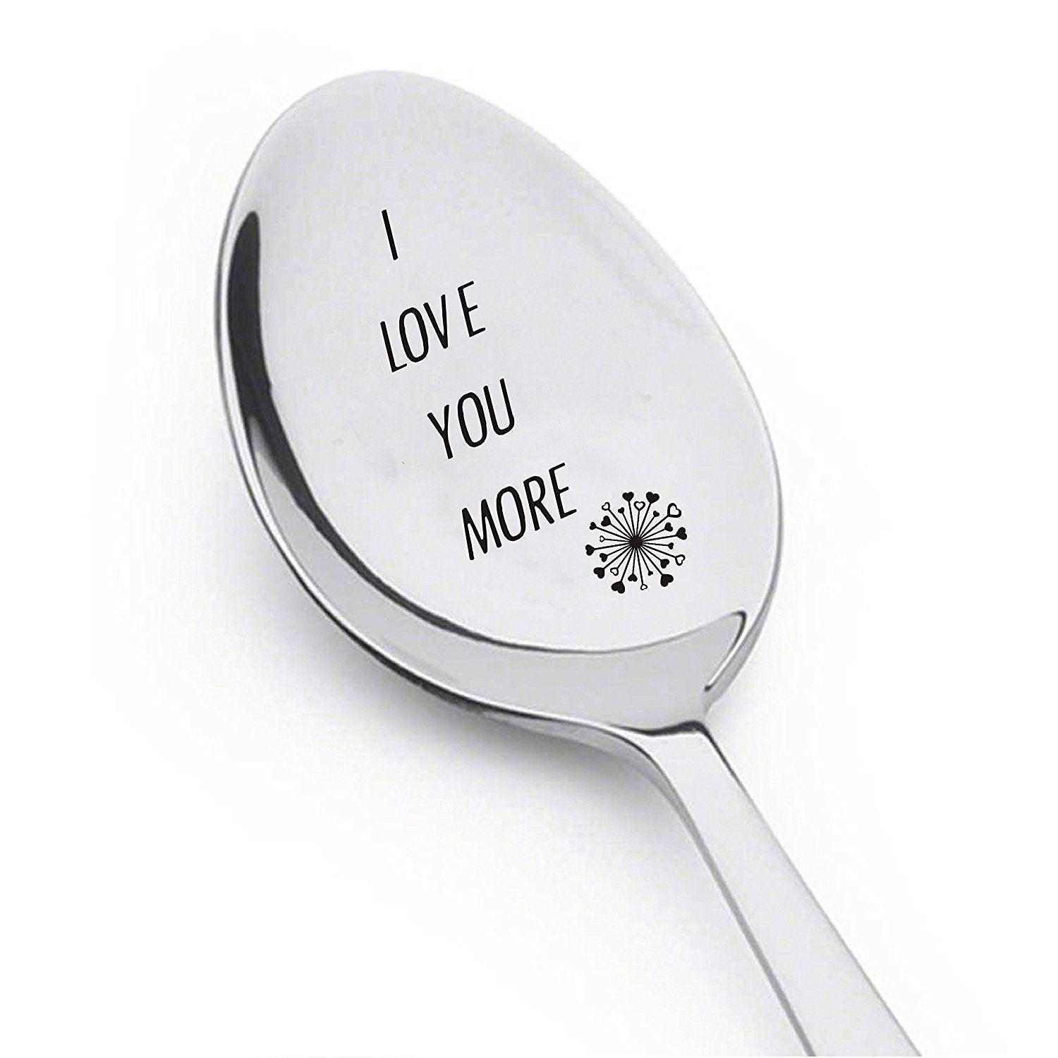 I Love You More Spoon- Inspirational Gift- Rocking Gift For Boyfriend - BOSTON CREATIVE COMPANY