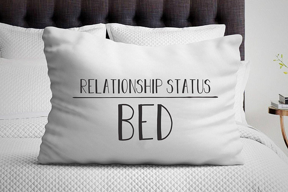 Relationship Status Bed Pillow Case - funny pillow case - pillowcase - funny gifts - BOSTON CREATIVE COMPANY