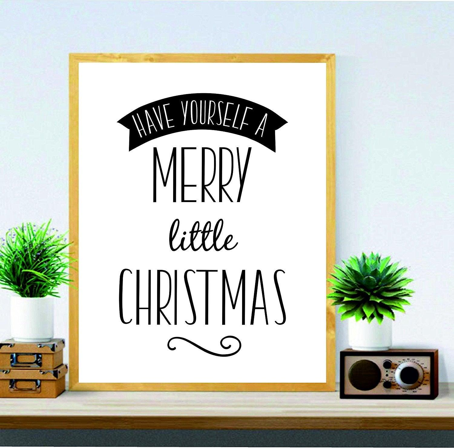 Christmas Print - Christmas wall art - Have Yourself A Merry Little ...