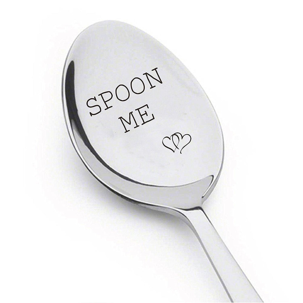 Spoon Me With Couple Heart - Boyfriend Gift - Birthday Gift - Anniversary Gift - Wedding Gift - Spoon Gift #A32 - BOSTON CREATIVE COMPANY