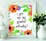 Room decor – Home décor - Gifts - wall art - Photo frame You Are Our Greatest Adventure - Playroom Décor - Wall hanging - Travel Nursery Wall Art Print - baby girl nursery Wall Art - BOSTON CREATIVE COMPANY