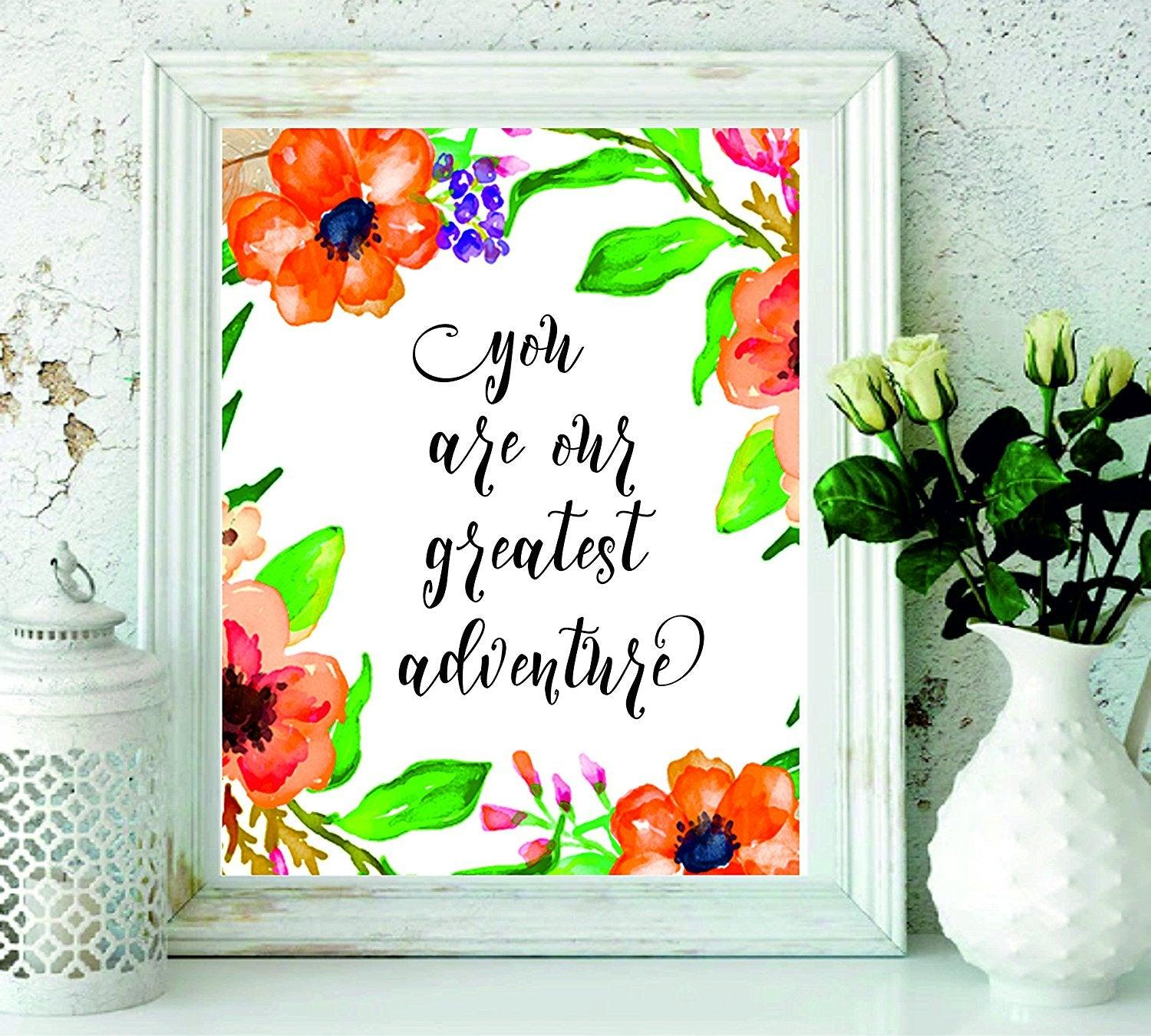 You Are Our Greatest Adventure - Wall Art - Playroom Décor - Travel Nursery Wall Art Print - baby girl nursery Wall Art - Home Decor - BOSTON CREATIVE COMPANY