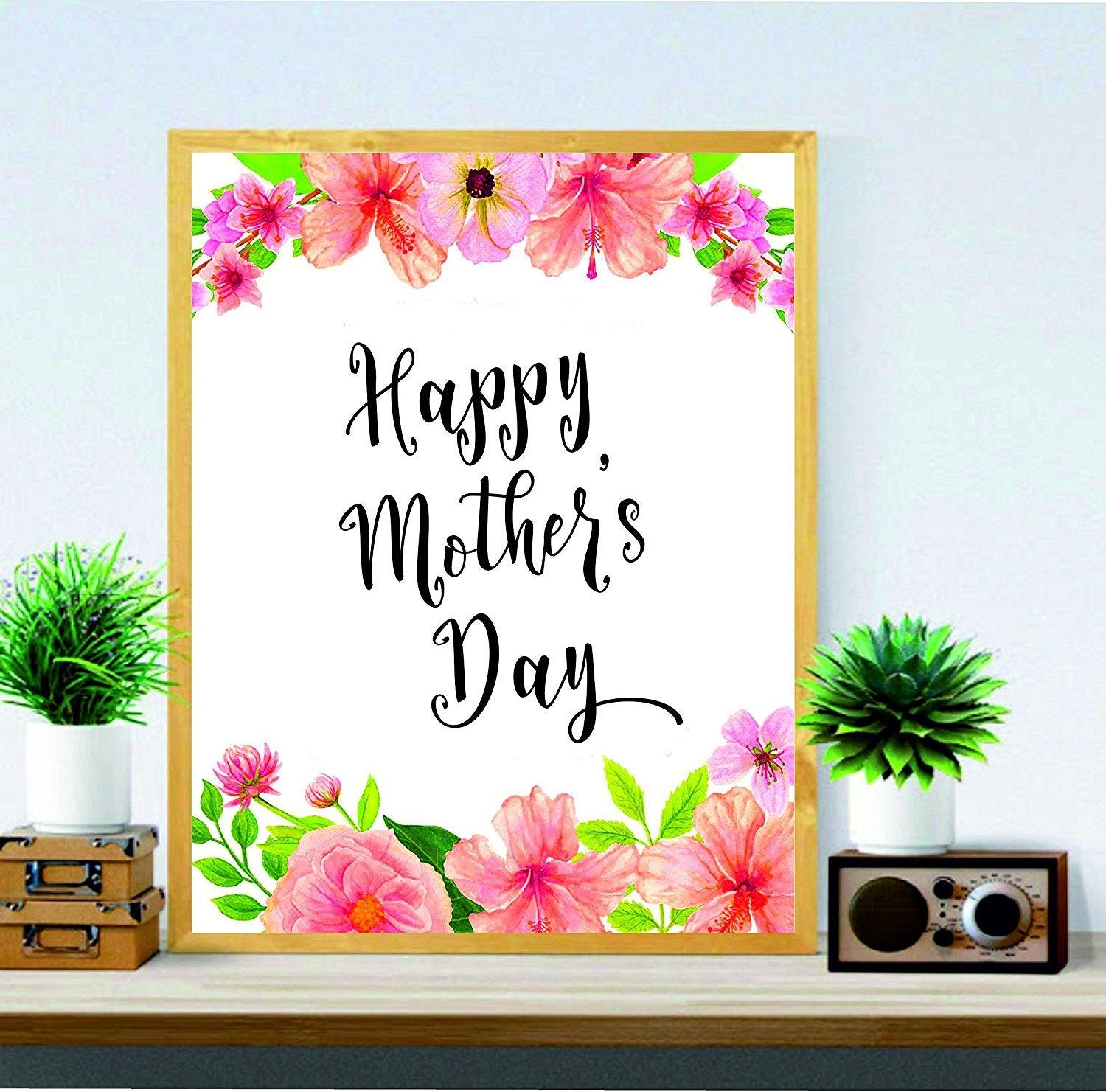 Mother's Day Printable - Happy Mother's Day - Mums Gift - Mother's Day Art - Digital Print - Wall Art Printable - Gifts for Mom - Mother's Day Decor - BOSTON CREATIVE COMPANY
