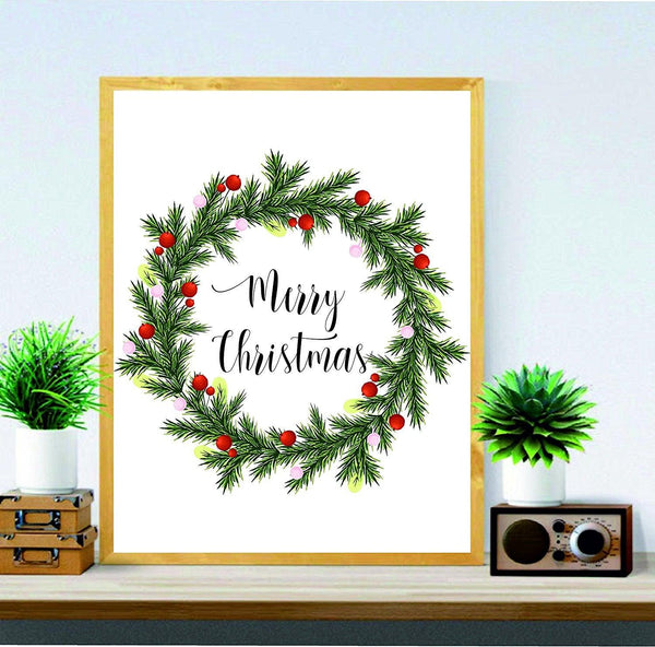 merry christmas wall art holiday print christmas gifts holiday art decor christmas wall decor xmas quote - Christmas Wall Art Decor