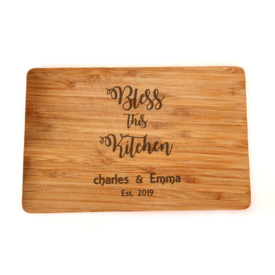 Personalized Cutting Board - Engraved Custom Wedding