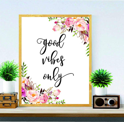 Good Vibes Wall Art for Office