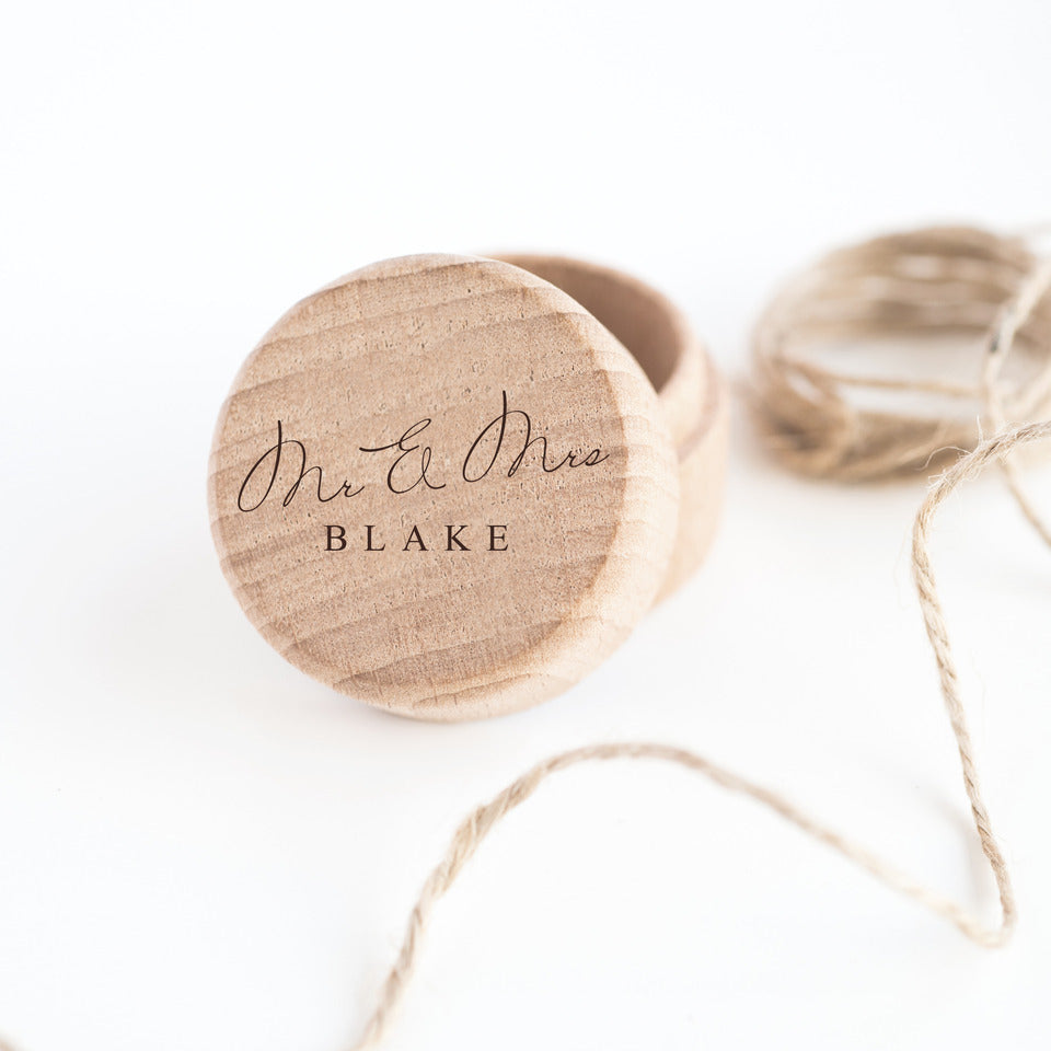 Personalized Wooden ring memento