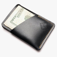 Leather Card Sleeve, groomsmen gift, leather card holder, minimalist wallet, best groomsmen gift - BOSTON CREATIVE COMPANY