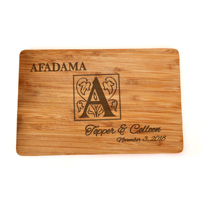 Custom Cutting Board - Engraved Cutting Board, Personalized Cutting Board, Wedding Gift