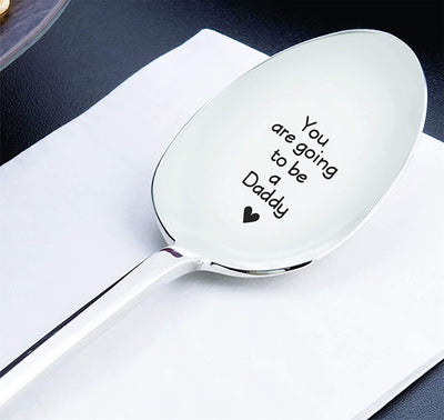You're Going To Be Daddy Engraved Spoon Gift