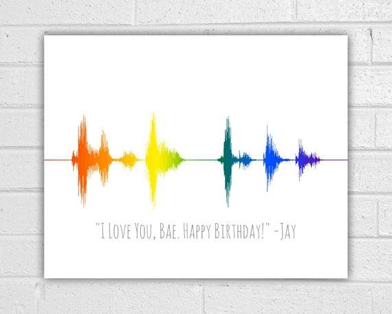 Custom Rainbow Sound Wave Art Print - BOSTON CREATIVE COMPANY