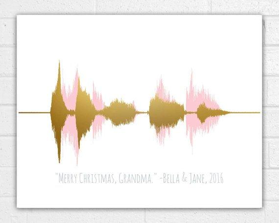 Sound Wave Art Print Voice Wave Choose Your Colors