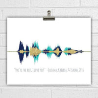 Voice Wave Custom Sound Wave Art Print Choose Your Colors