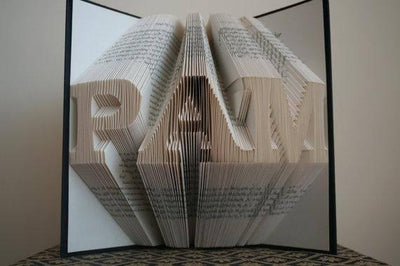 Folded Book Art - Paper Art - Paper Anniversary Gift for Him or Her - Date - Unique Birthday Gift - BOSTON CREATIVE COMPANY