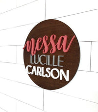 "Bold Custom Name Sign | 24"" Round Sign 