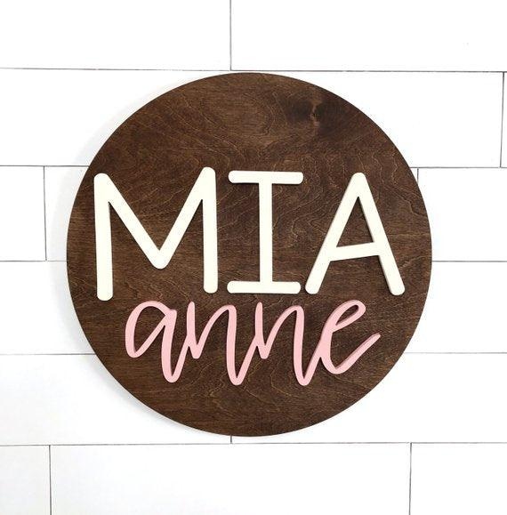 "New Custom Nursery Sign | 24"" Round Sign 