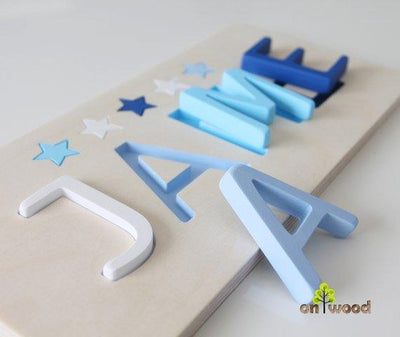 Personalized Name Puzzle. Christmas Gift  for Baby Boy