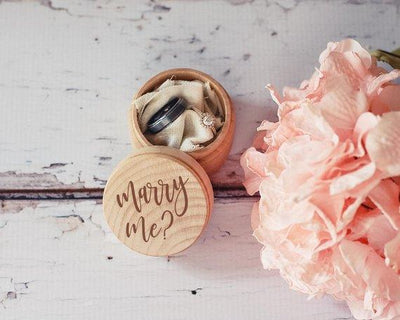 Will You Marry Me Proposal Wedding Ring Holder Box