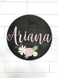 "Boston Custom Name Sign | 24"" Round Sign 